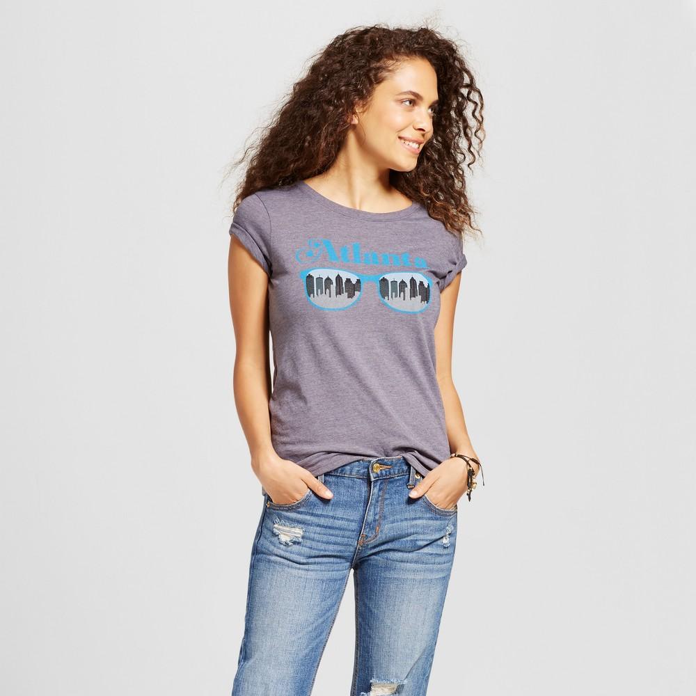 Womens Atlanta Sunglasses T-Shirt Charcoal Gray M - Awake