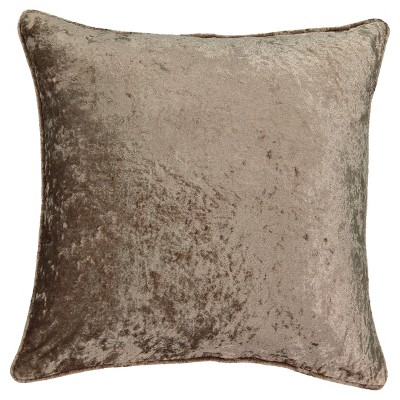 Brown Sandrine Faux Velvet Throw Pillow (20x20 )- Beautyrest®