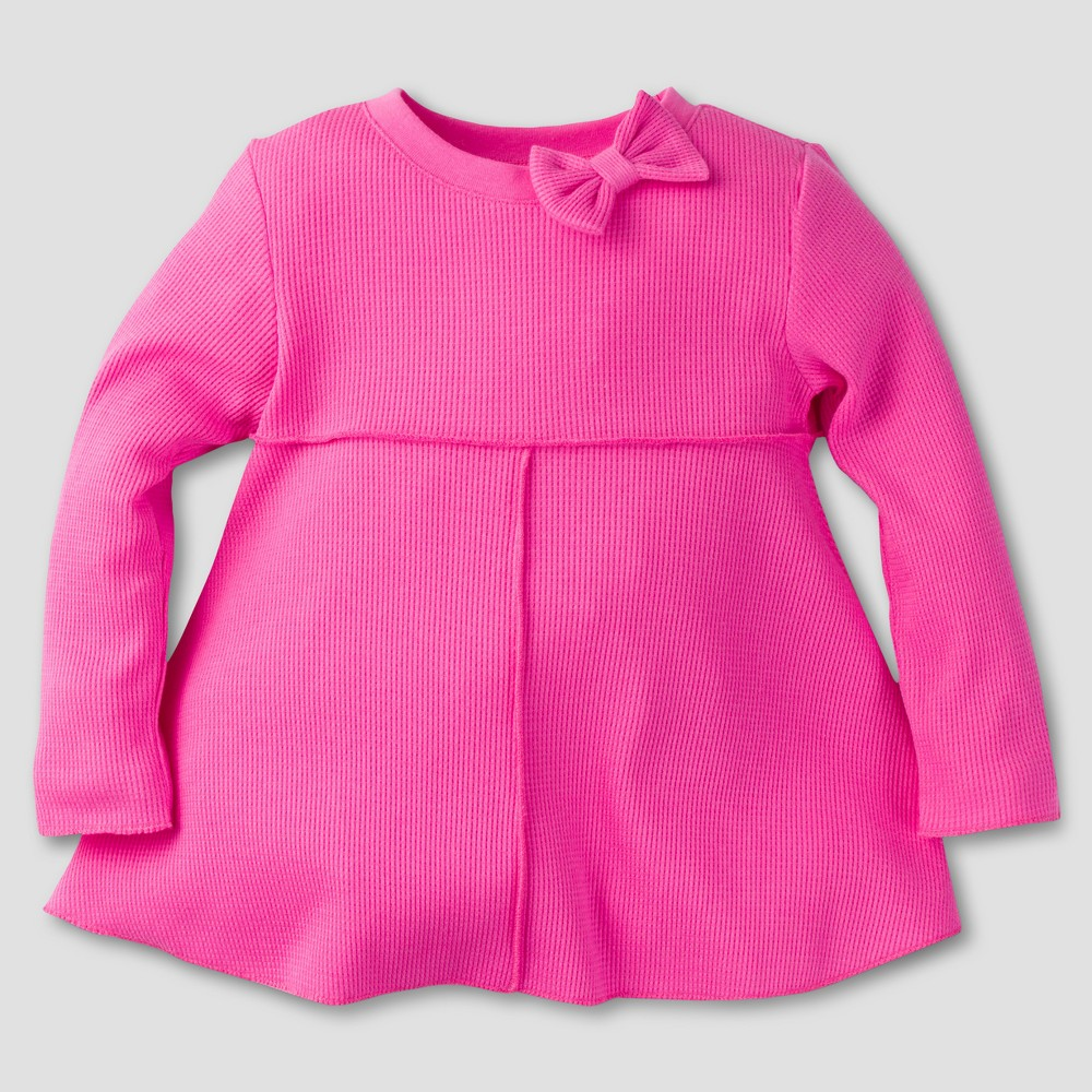 Gerber Graduates Toddler Girls Long Sleeve Thermal Knit Baby Doll Tunics - Pink 04T, Size: 4T