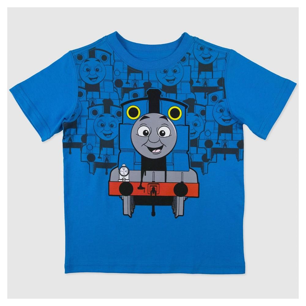 Toddler Boys Thomas & Friends Short Sleeve T-Shirt -Blue 4T, Blue