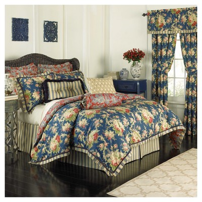 Floral Sanctuary Rose Comforter Set (Queen)4pc - Waverly®
