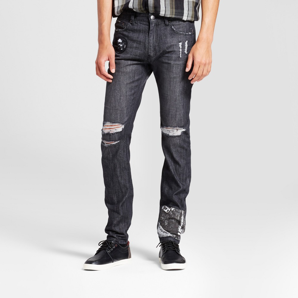 Mens Fashion Pant - Jackson Charcoal 34, Gray