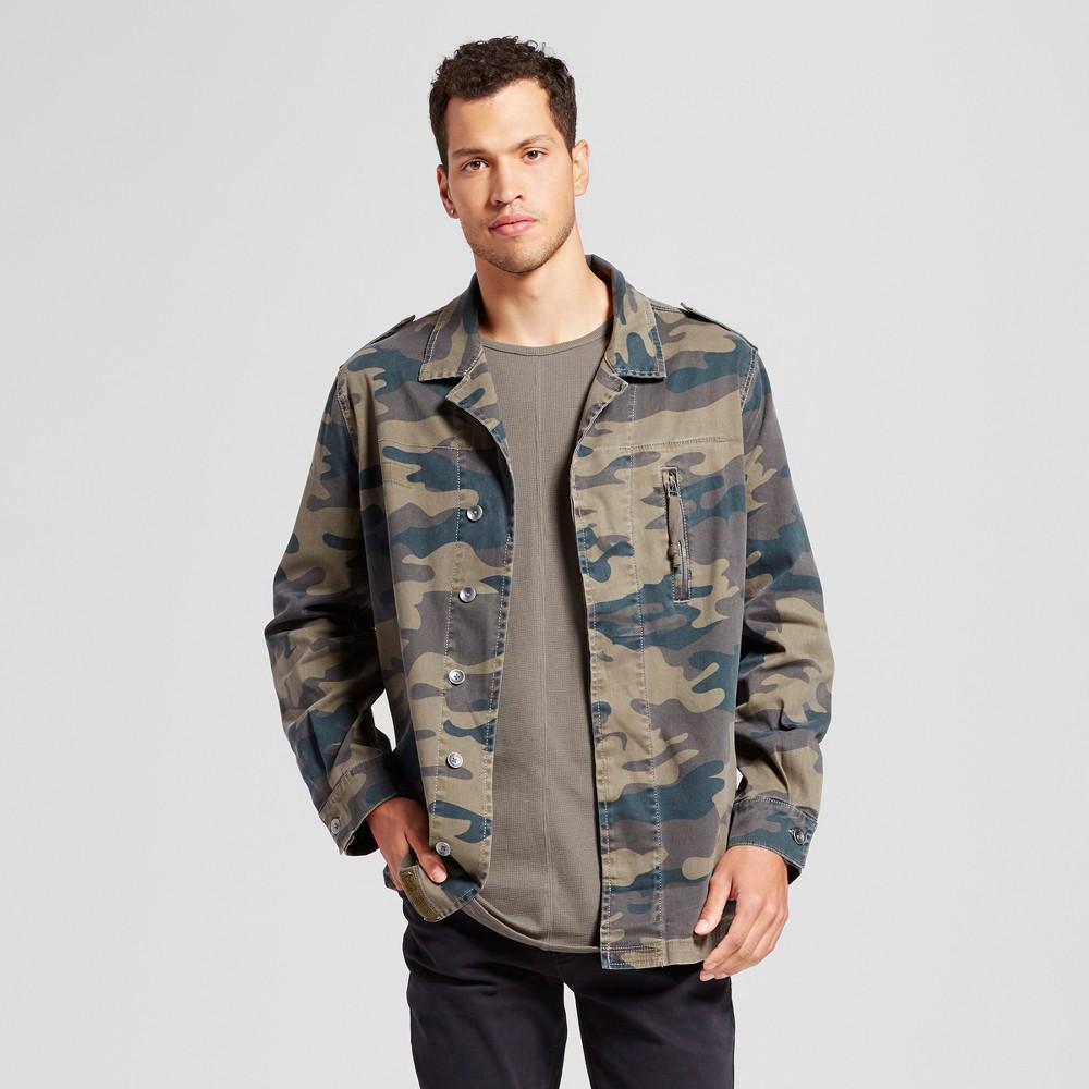 Mens Camo Military Jacket - Jackson Olive L, Green
