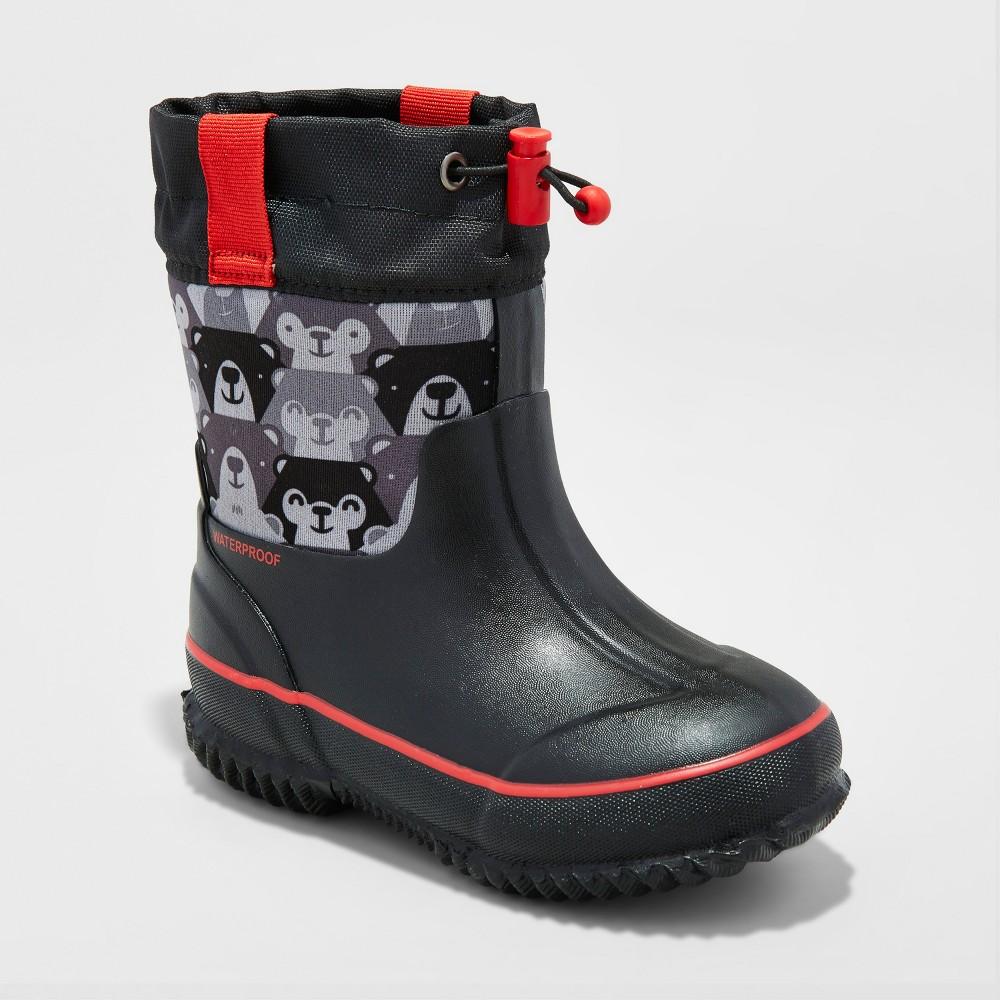 Toddler Boys Jace Neoprene Winter Boots M Cat & Jack - Black, Size: M(7-8)