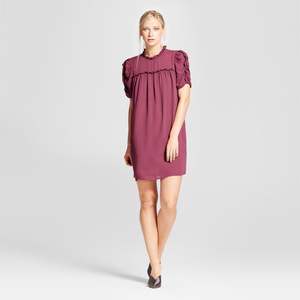 Womens Drapey Doll Dress - Who What Wear Purple XL