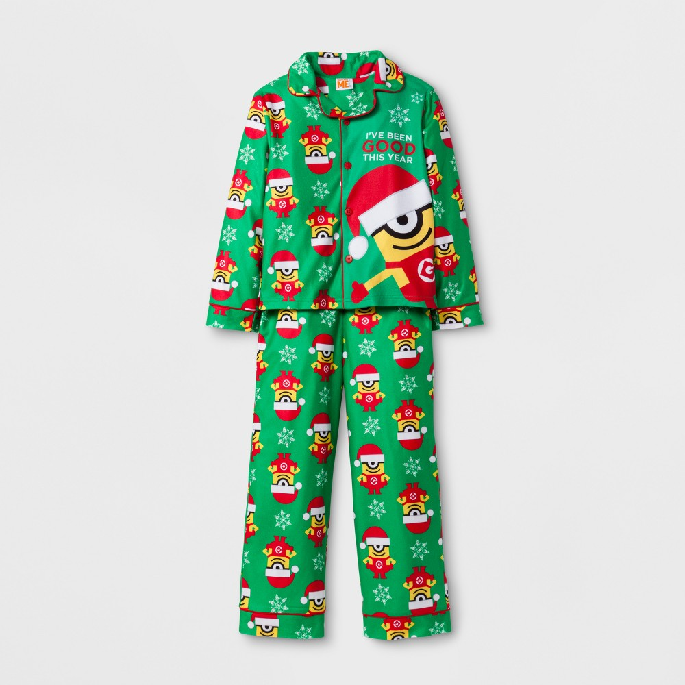 Boys Despicable Me Minions 2 Piece Pajama Set - Green 10