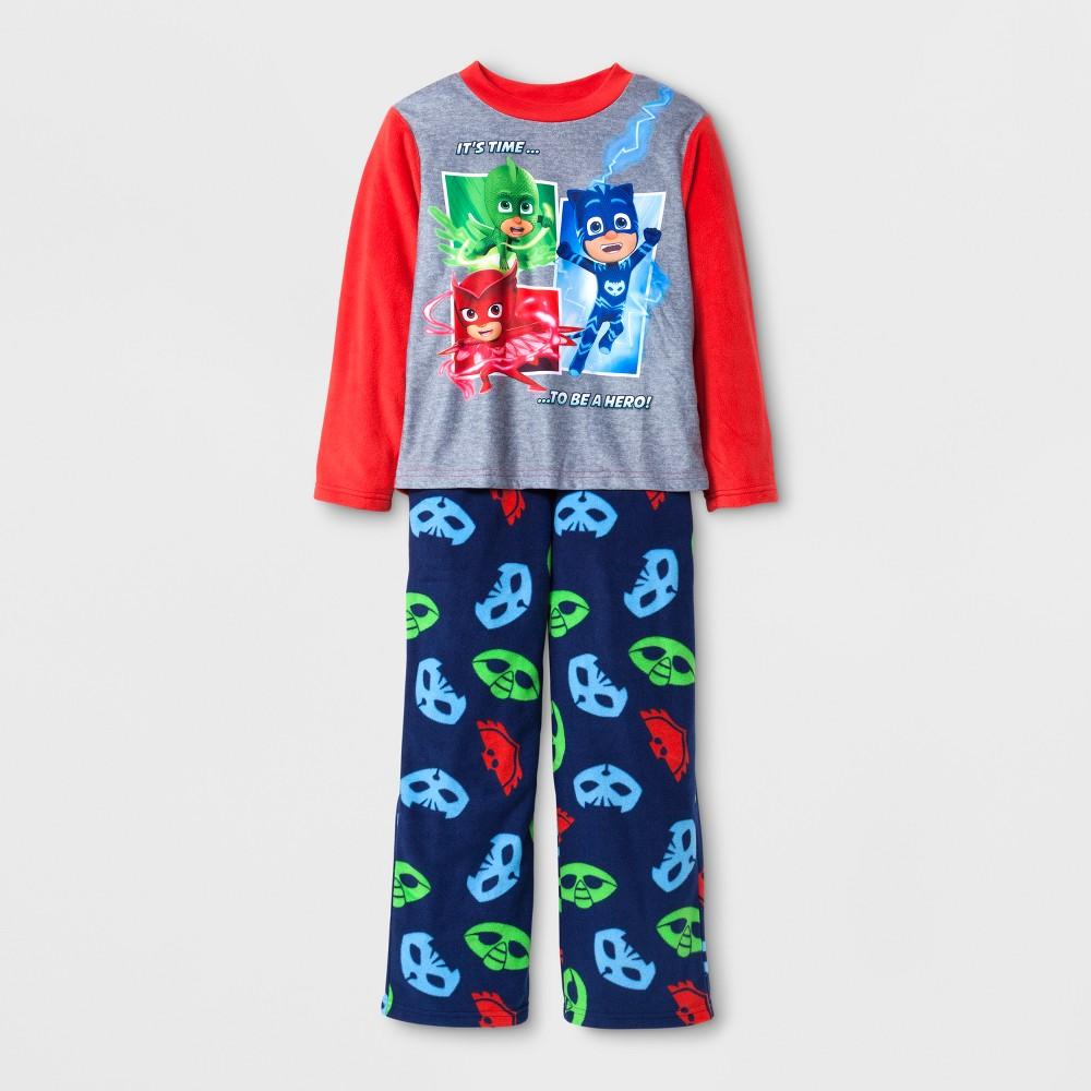 Boys PJ Masks 2 Piece Pajama Set - Blue 4