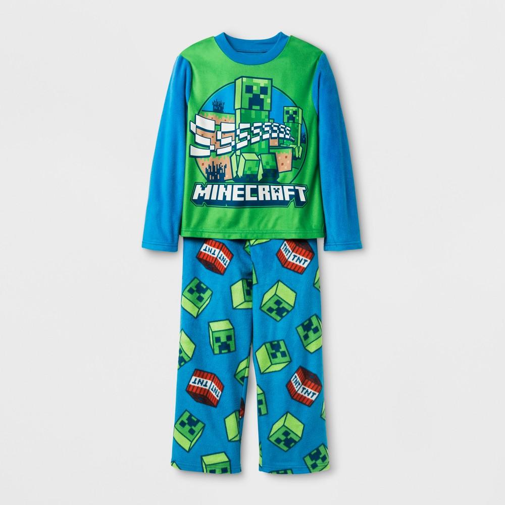 Boys Minecraft 2 Piece Pajama Set - Blue 10