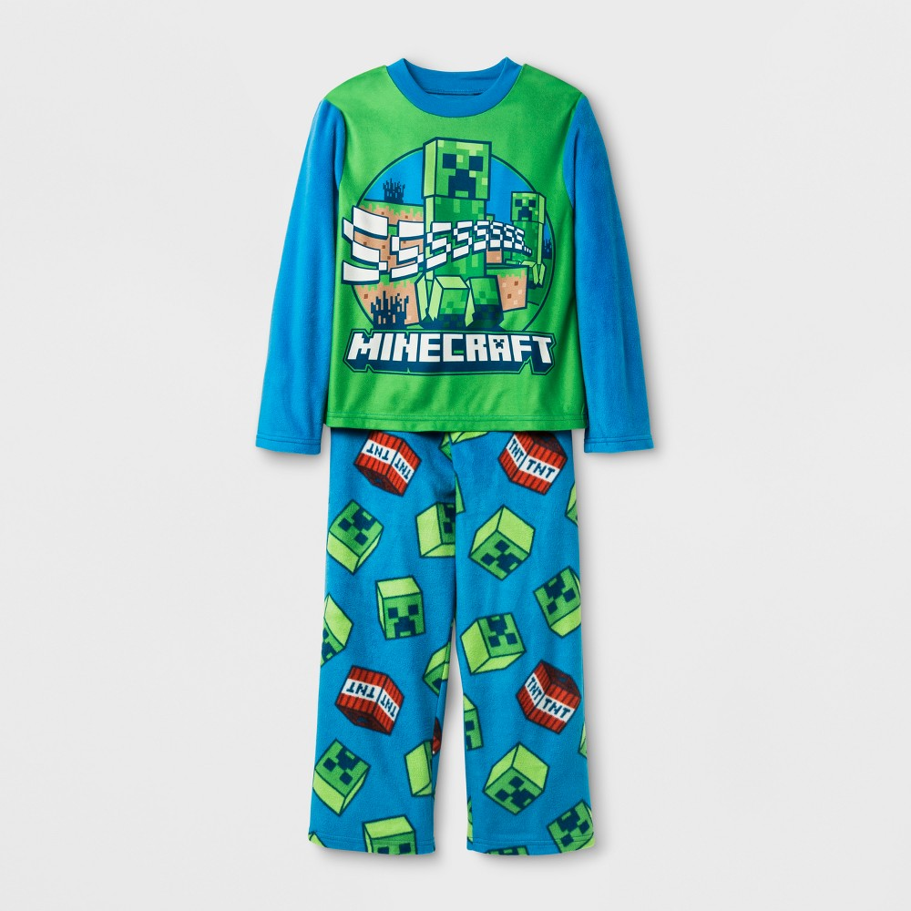 Boys Minecraft 2 Piece Pajama Set - Blue 6