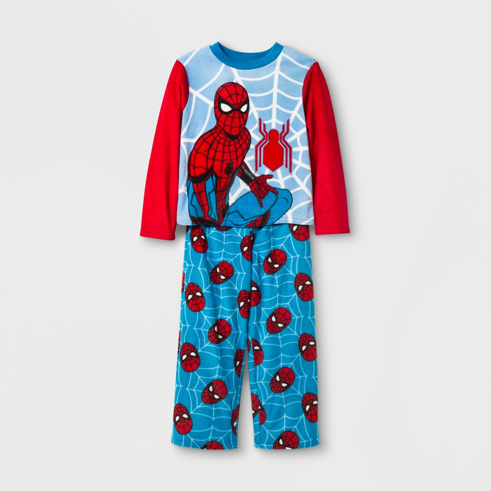 Boys' Marvel Spider-Man: Homecoming 2 Piece Pajama Set - Blue 10