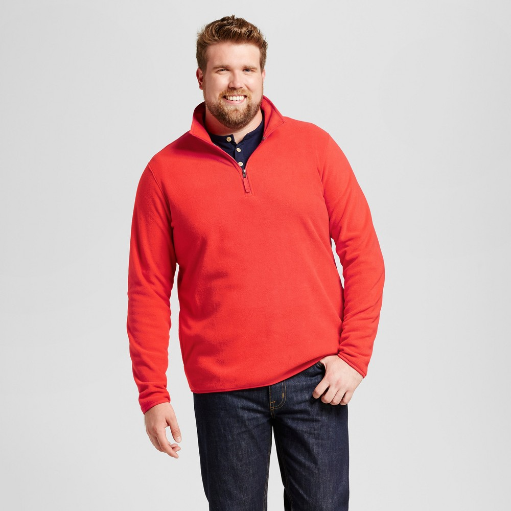 Mens Big & Tall Microfleece Pullover - Goodfellow & Co Red MT