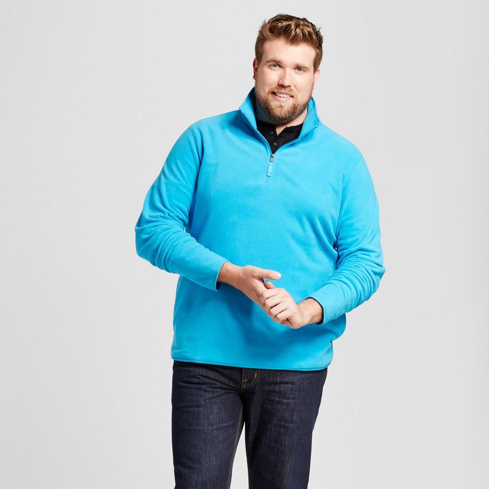 Mens Big & Tall Microfleece Pullover - Goodfellow & Co Blue LT