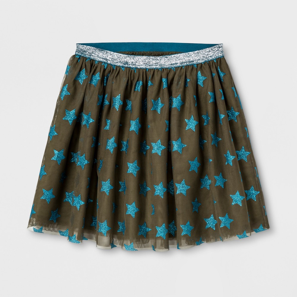 Girls Glitter Star Tutu Skirt - Cat & Jack Spring Olive Xxl, Green