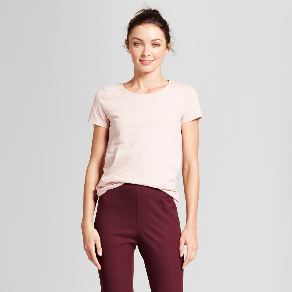 Womens Vintage Crew T-Shirt - A New Day Blush Xxl