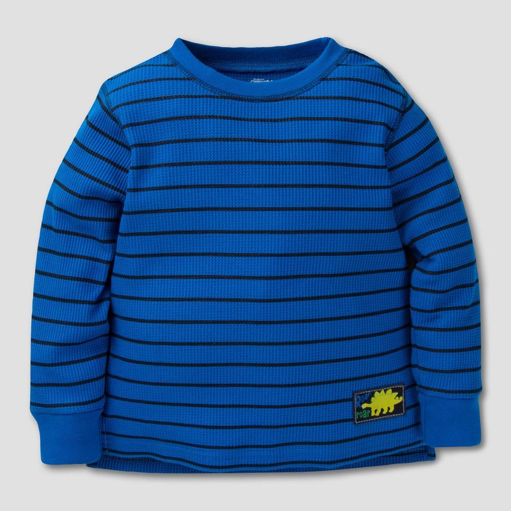 Gerber Graduates Toddler Boys Long Sleeve T-Shirt - Blue/Black Stripes 5T
