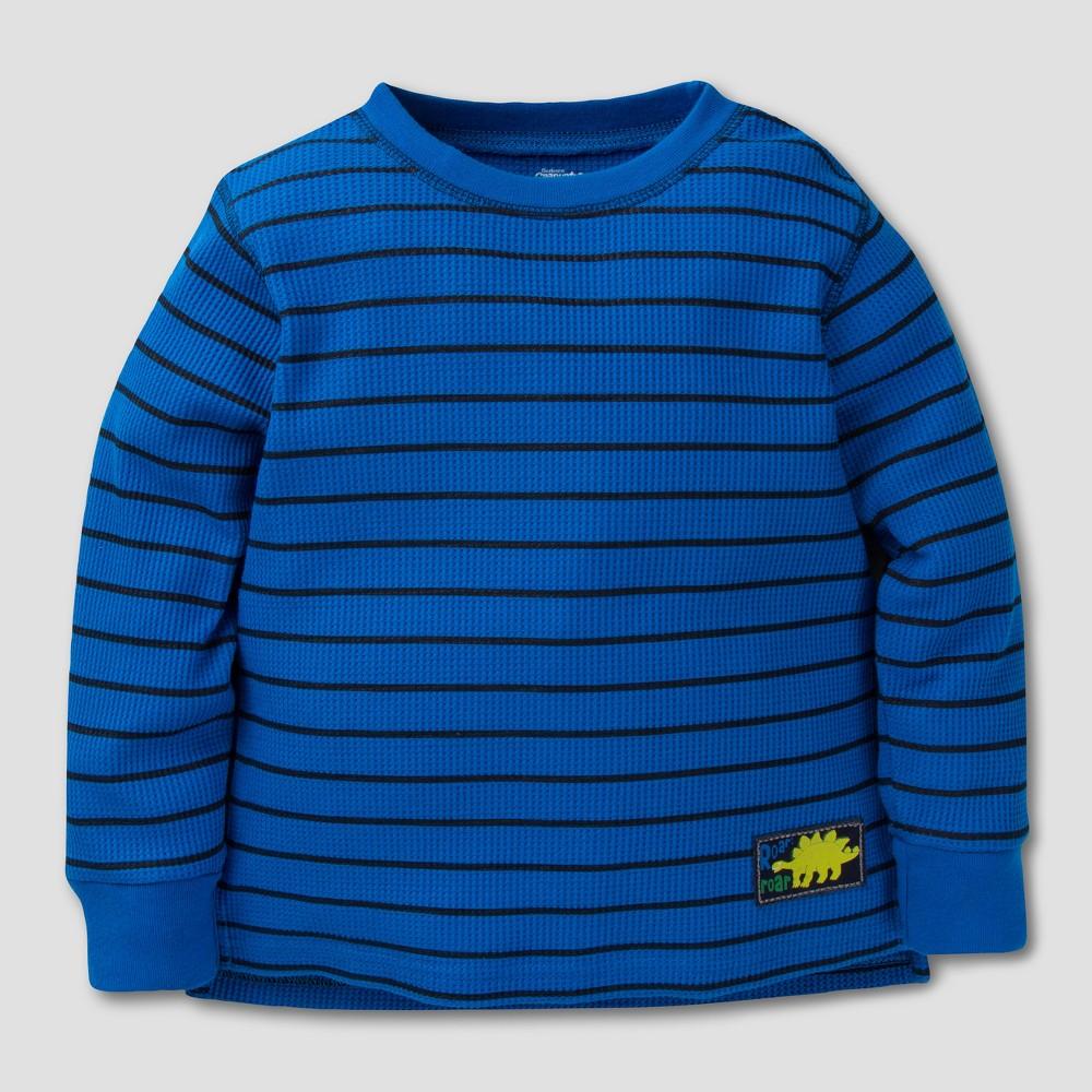 Gerber Graduates Toddler Boys Long Sleeve T-Shirt - Blue/Black Stripes 24M, Size: 24 M