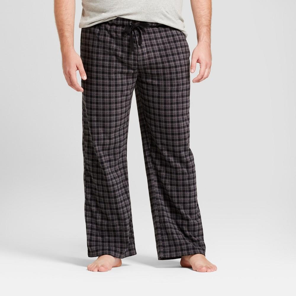 Mens Big & Tall Fleece Pajama Pants - Goodfellow & Co Black/Gray 2XB
