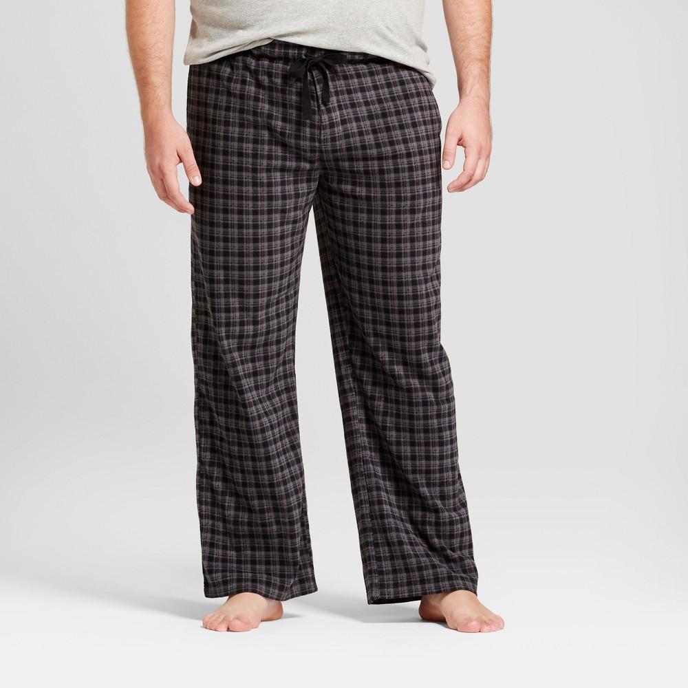 Mens Big & Tall Fleece Pajama Pants - Goodfellow & Co Black/Gray 4XBT
