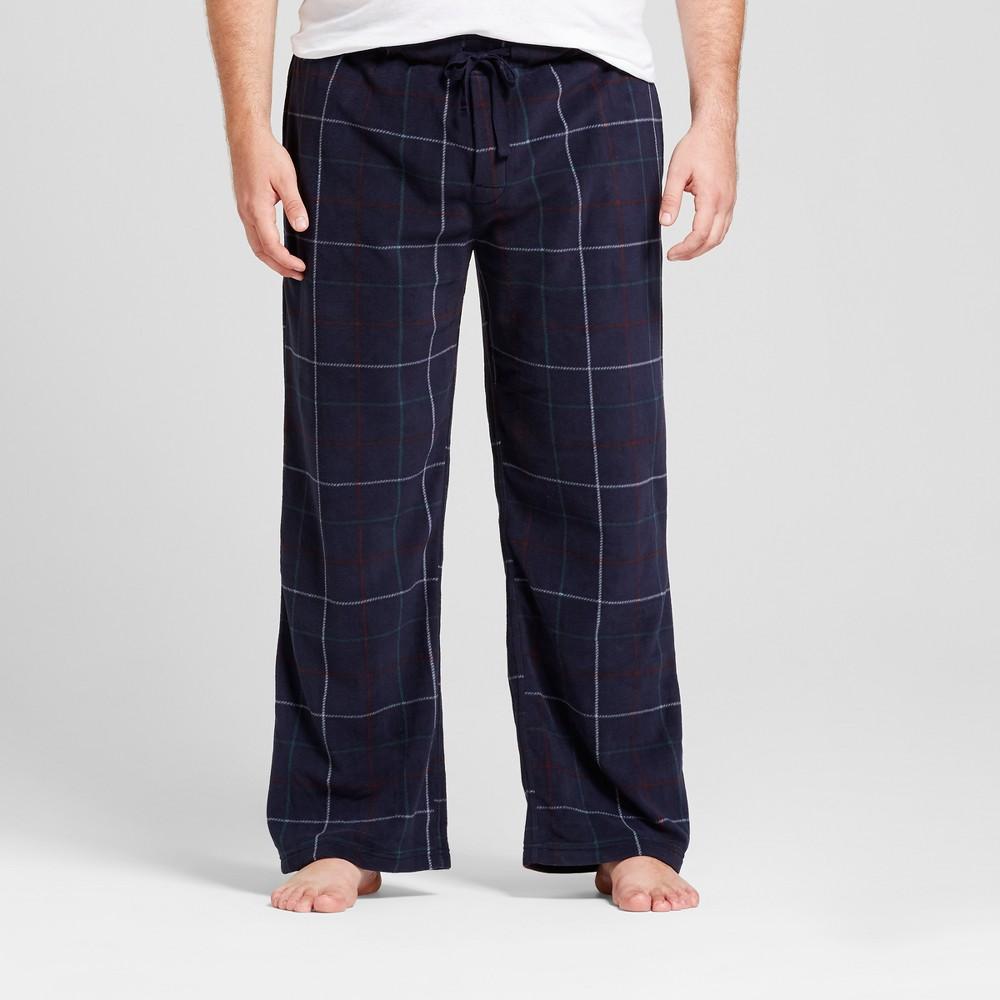 Mens Big & Tall Fleece Pajama Pants - Goodfellow & Co Navy (Blue) Xxlt, Size: Xxl Tall