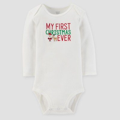 Baby's Long Sleeve My First Christmas Ever Bodysuit - Just One You™ Made by Carter's® White 9M