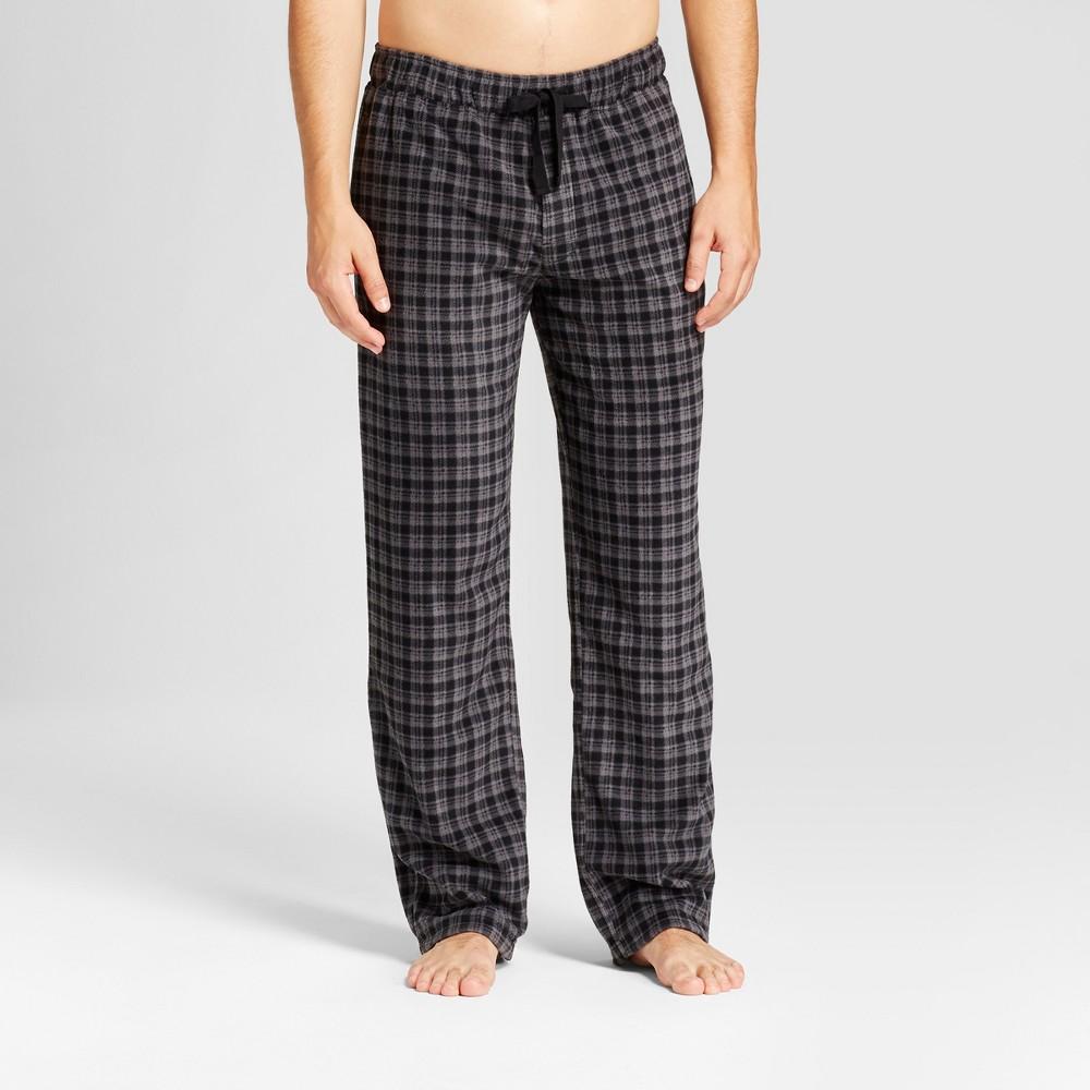 Men's Fleece Pajama Pants - Goodfellow & Co Black/Gray M