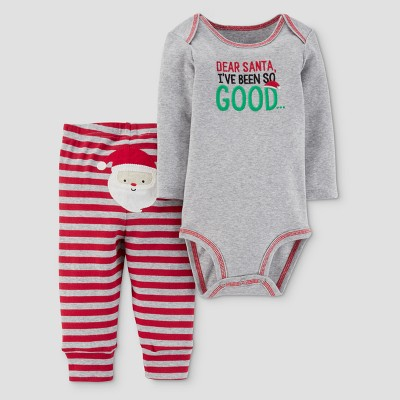 Baby Boys' 2pc Dear Santa Bodysuit and Pants Set - Just One You™ Made by Carter's® Gray/Red 6M