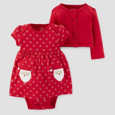 Baby Girls' 2pc Dress and Sweater Set - Just One You™ Made by Carter's® Red NB