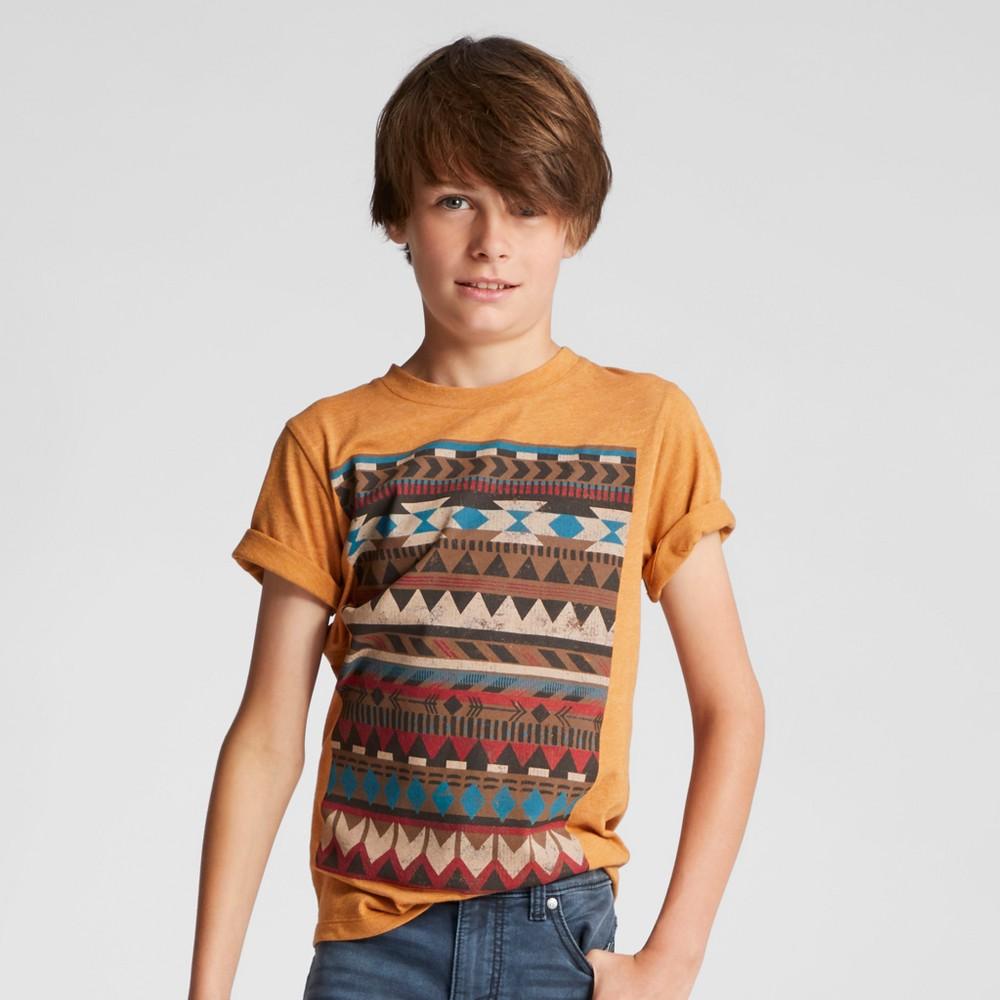 Boys Geo Graphic T-Shirt - Art Class Orange S