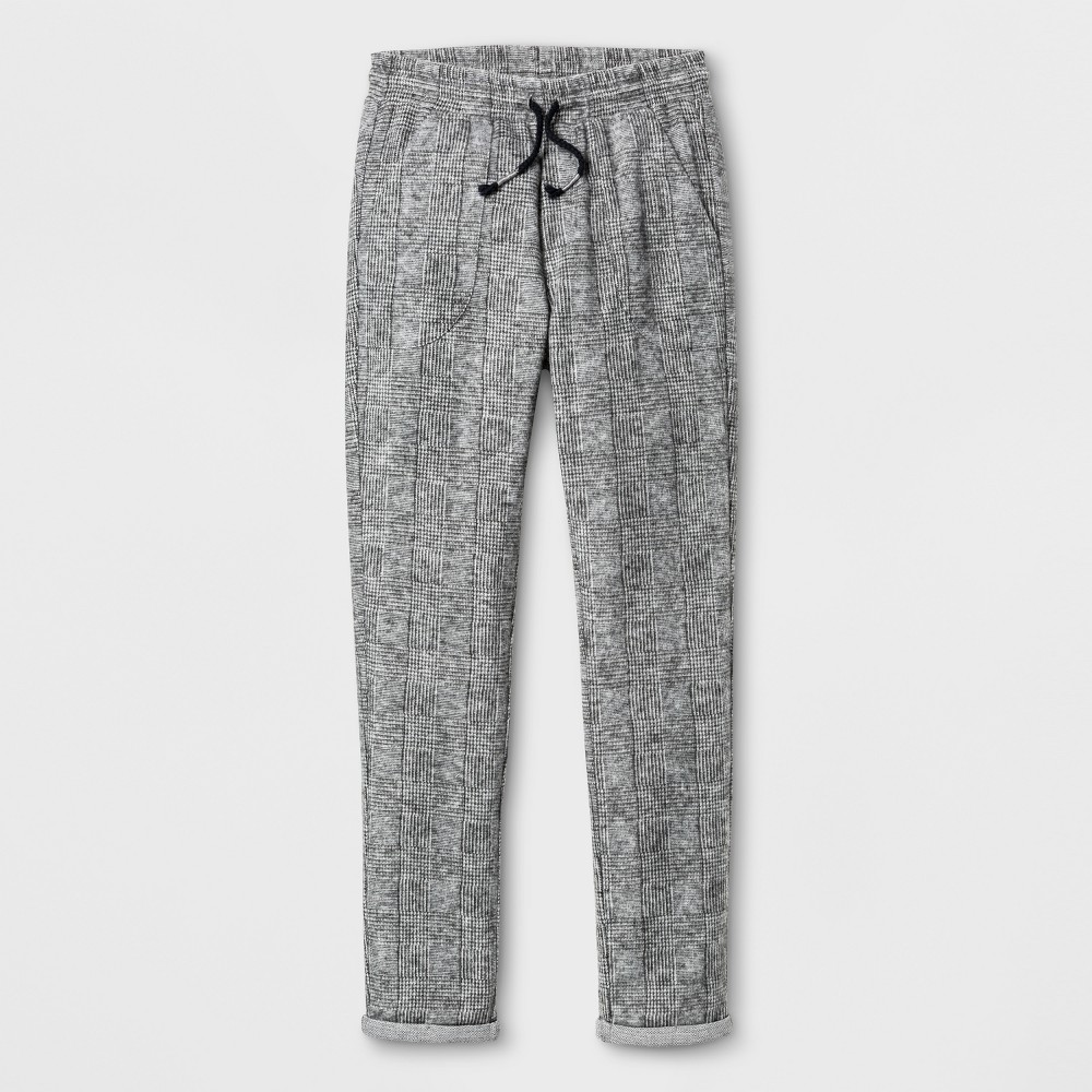 Boys Plaid Jogger Pants - Art Class Gray S
