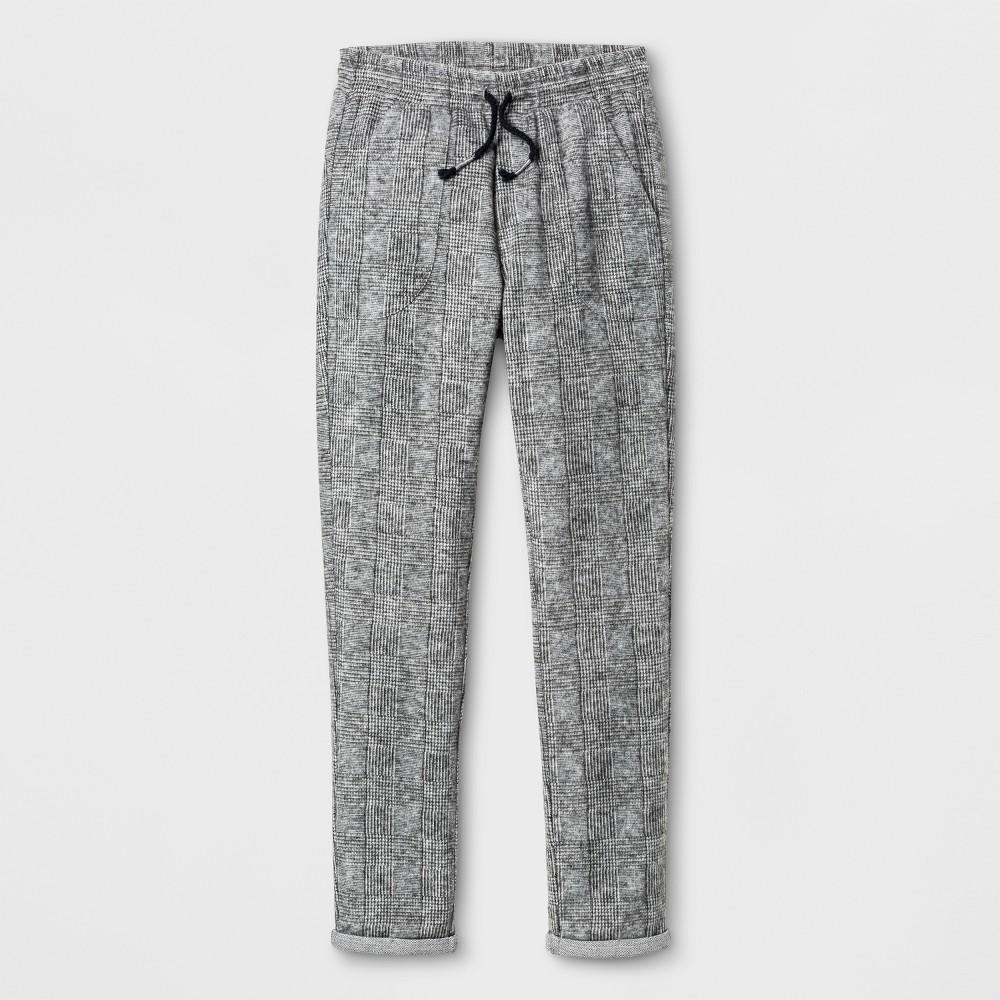 Boys Plaid Jogger Pants - Art Class Gray XL