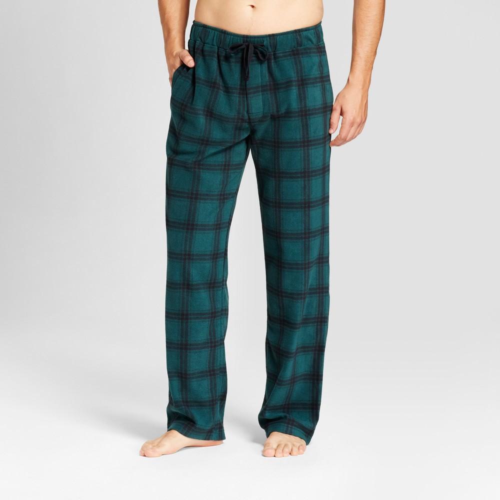 Mens Fleece Pajama Pants - Goodfellow & Co Green/Gray S
