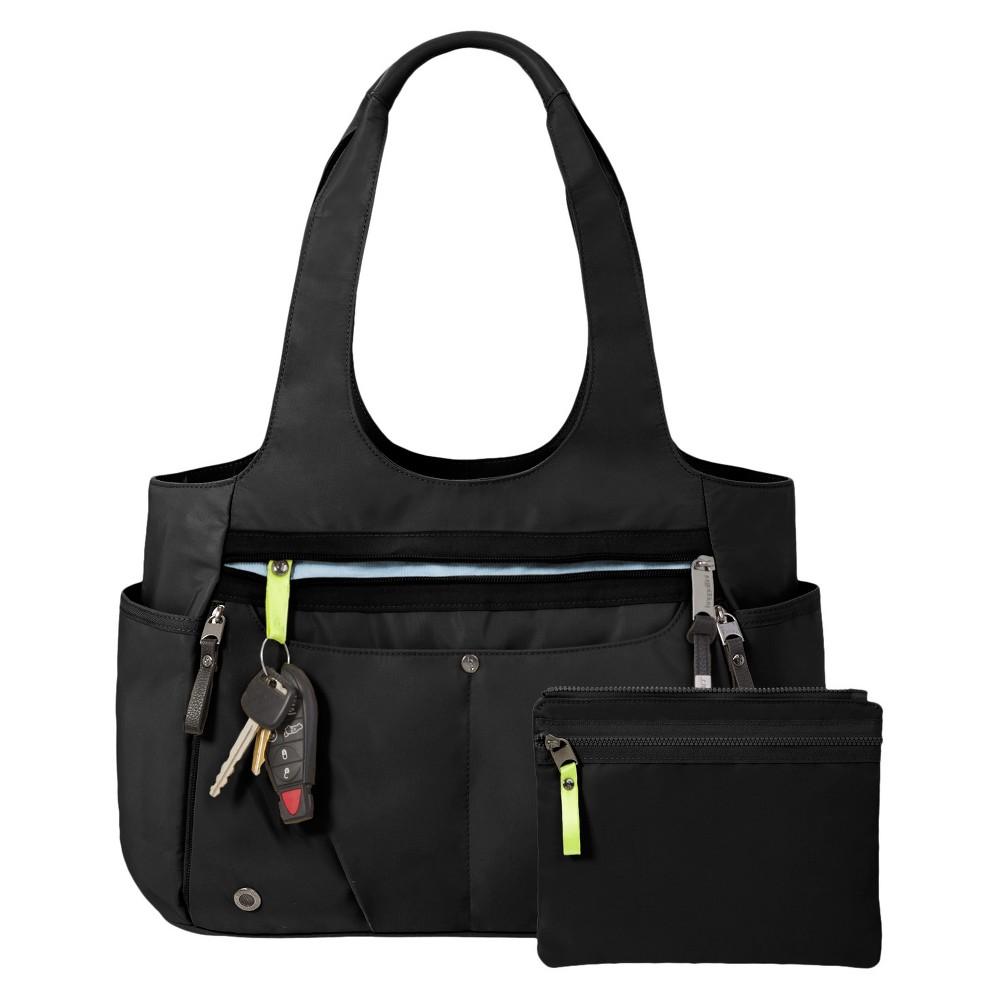 BG by Baggallini Gumption Medium Tote Handbag - Black, Womens