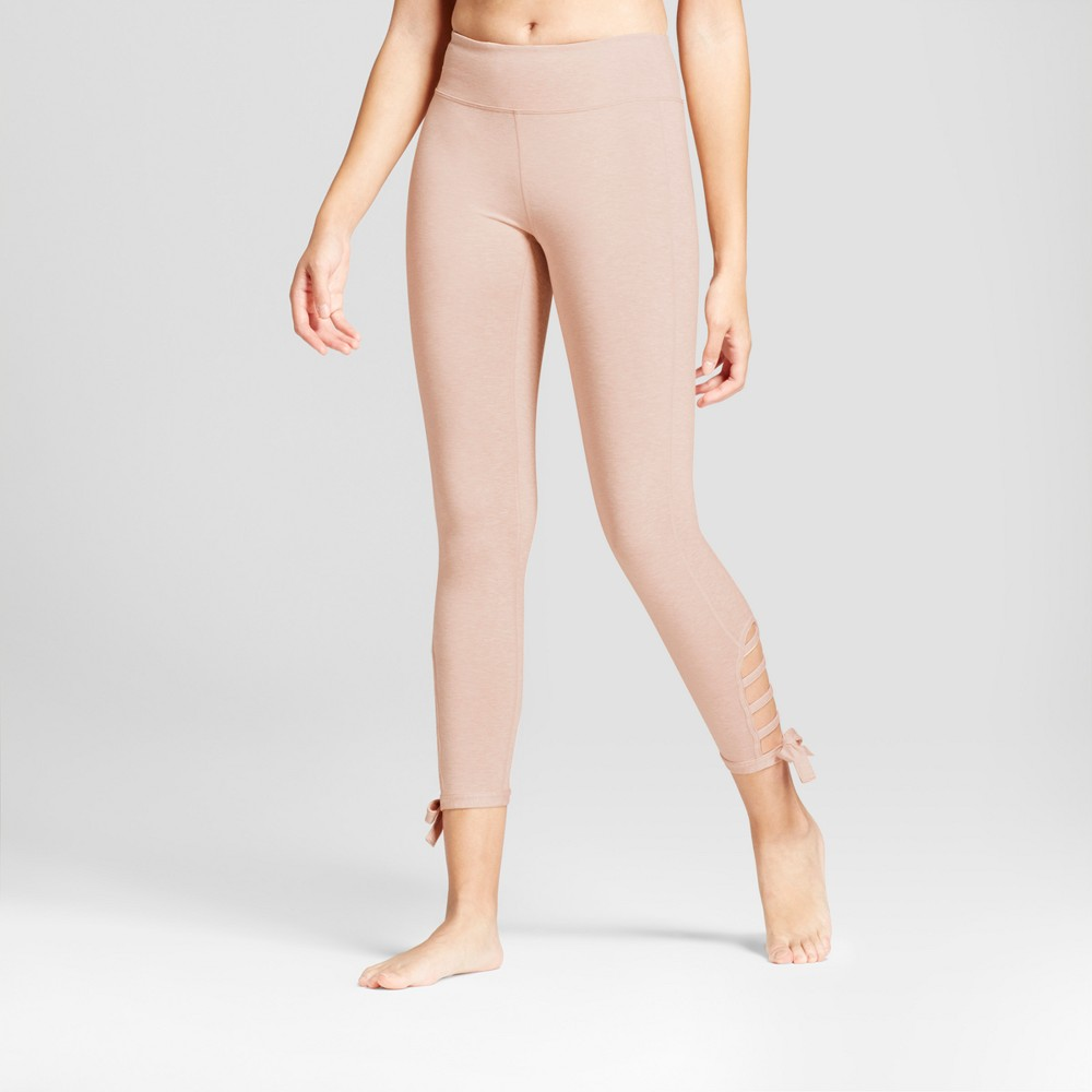 Womens 7/8 Comfort Side Tie Leggings - JoyLab Blush Xxl
