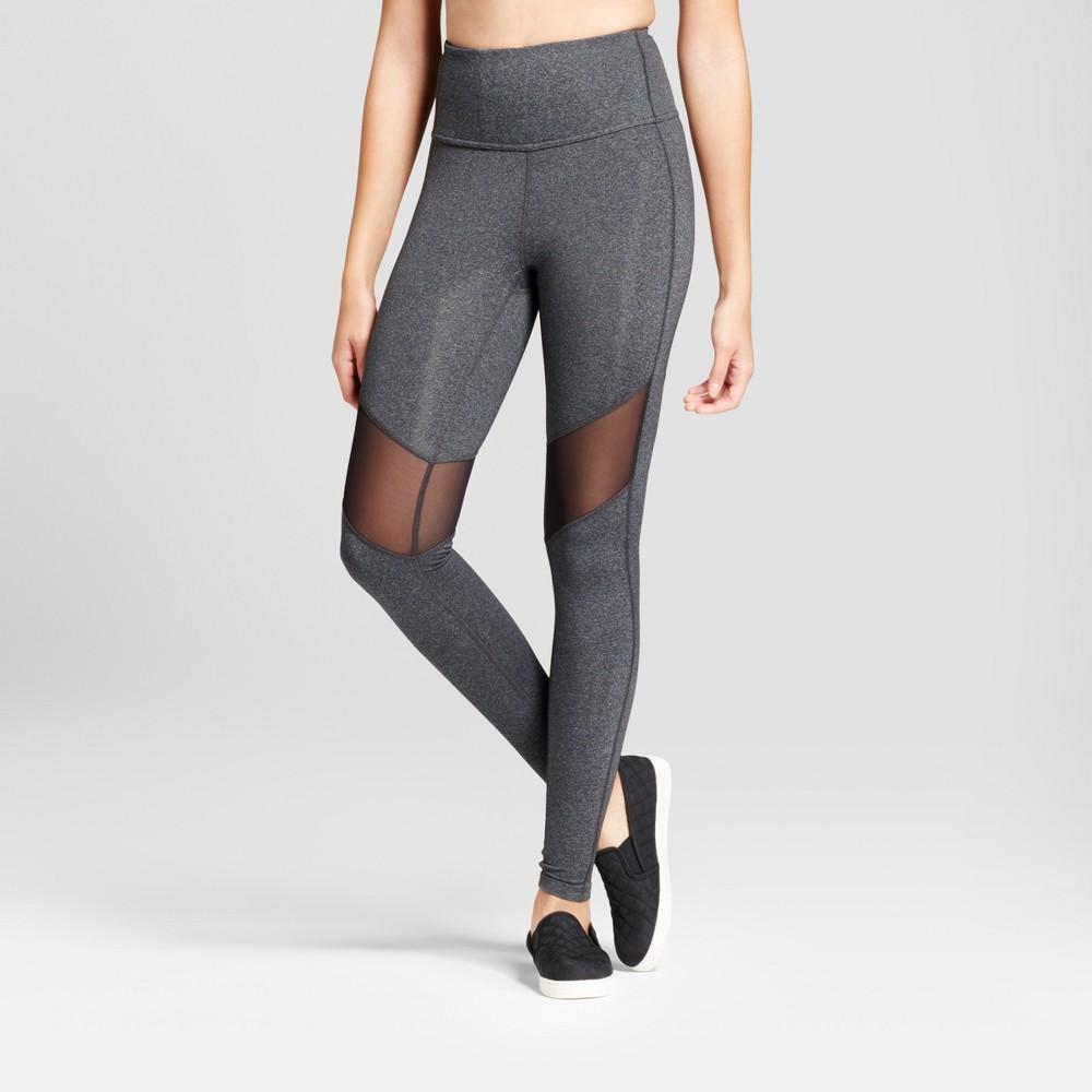 Womens Premium High Waist Mesh Leggings - JoyLab Charcoal Heather M