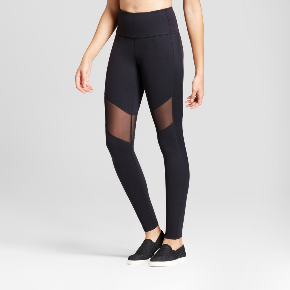 Womens Premium High Waist Mesh Leggings - JoyLab Black S