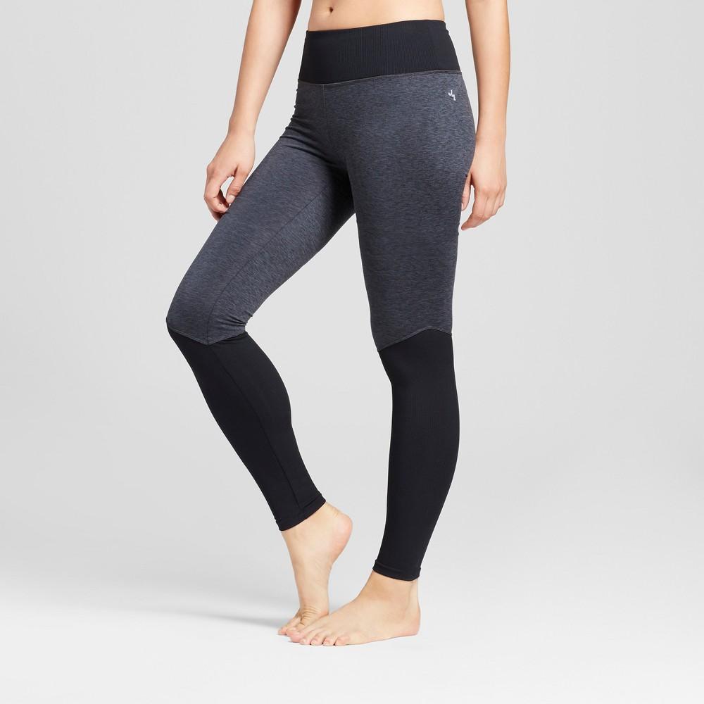Womens Comfort Ribbed Long Leggings - JoyLab Charcoal Heather M