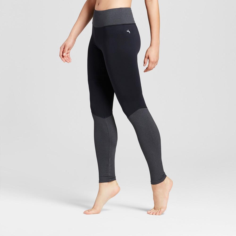 Womens Comfort Ribbed Long Leggings - JoyLab Black L