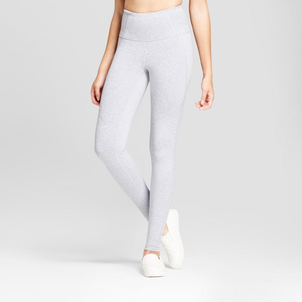 Womens High Waist Mini Stripe Leggings - JoyLab Heather Gray L