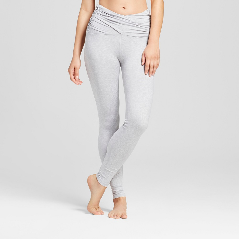 Womens Comfort Ruched Waist Leggings - JoyLab Heather Gray M