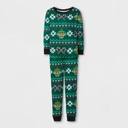 Secret Santa Boys' Elf Fairisle Pajama Set - Green