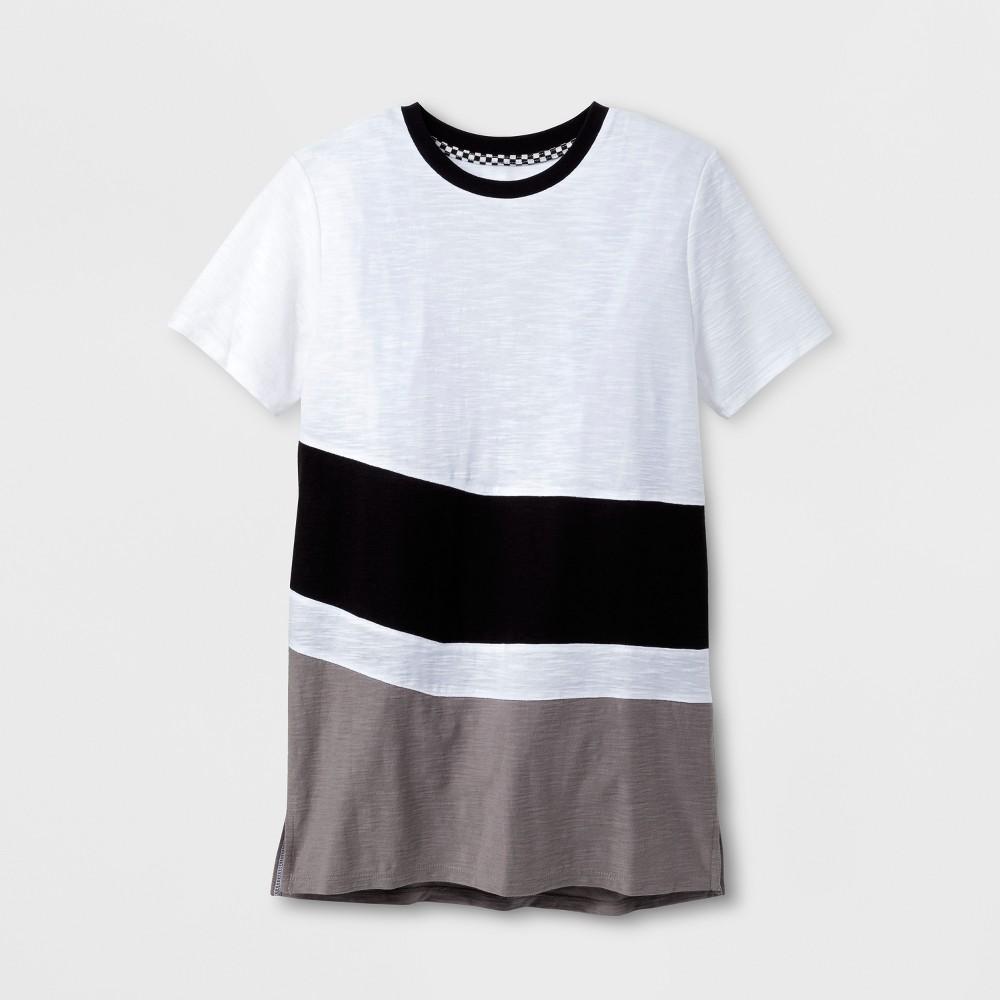Boys Colorblock Short Sleeve T-Shirt - Art Class White/Black/Gray XS