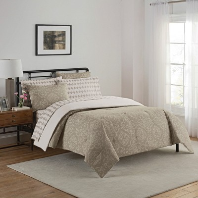 Gray Medallion Lyon Bed in a Bag Set (Queen)7pc - Simmons®