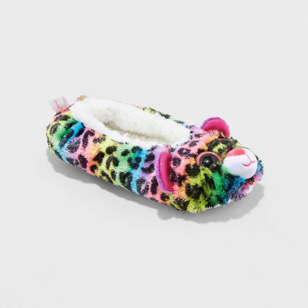 Girls TY Beanie Boos Dotty Rainbow Leopard Ballet Slippers - XS(11-12), Size: XS (11-12), Multicolored