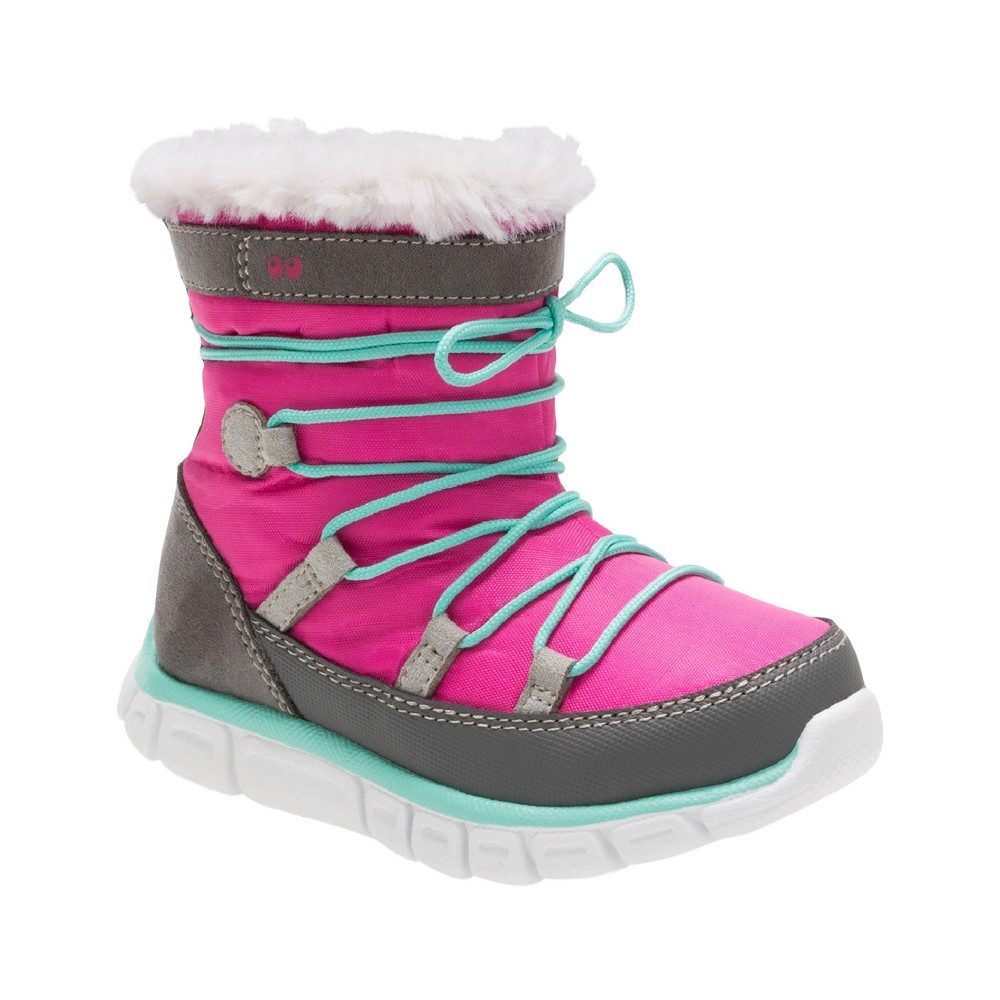 Toddler Girls Surprize by Stride Rite Christy Winter Boots - Pink 11, Gray Pink