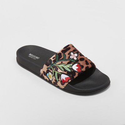 view Women's Luann Leopard Print Slide Sandals - Mossimo Supply Co. on target.com. Opens in a new tab.