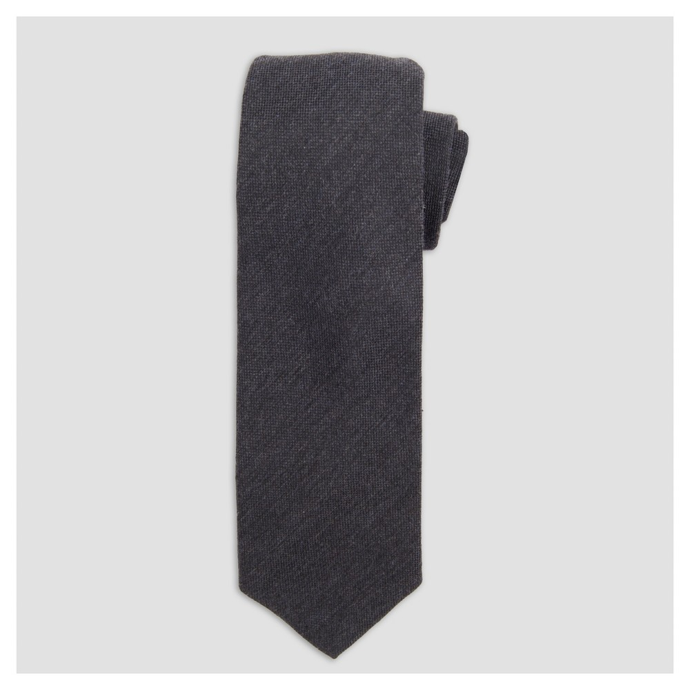 Mens Necktie - Goodfellow & Co Chambray One Size, Railroad Gray