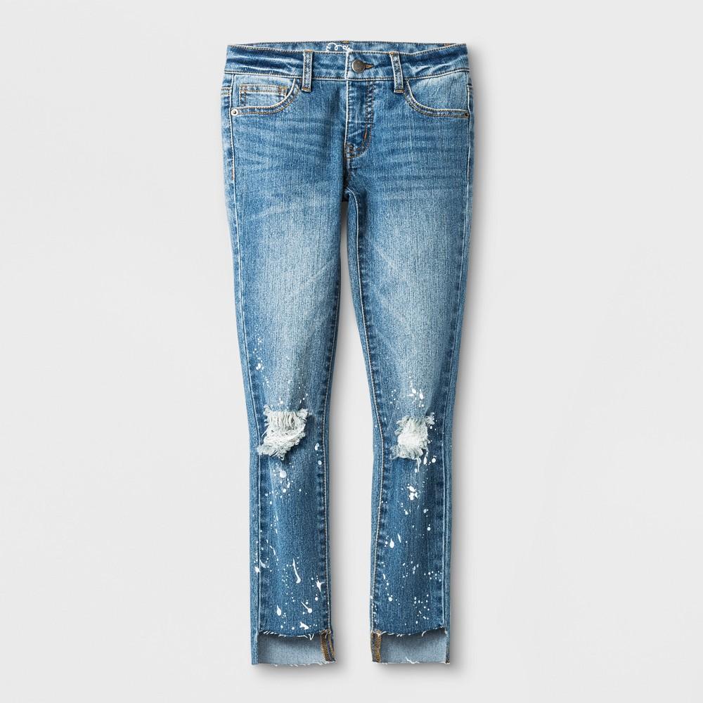 Girls Denim Pants - Art Class Light Wash S, Blue