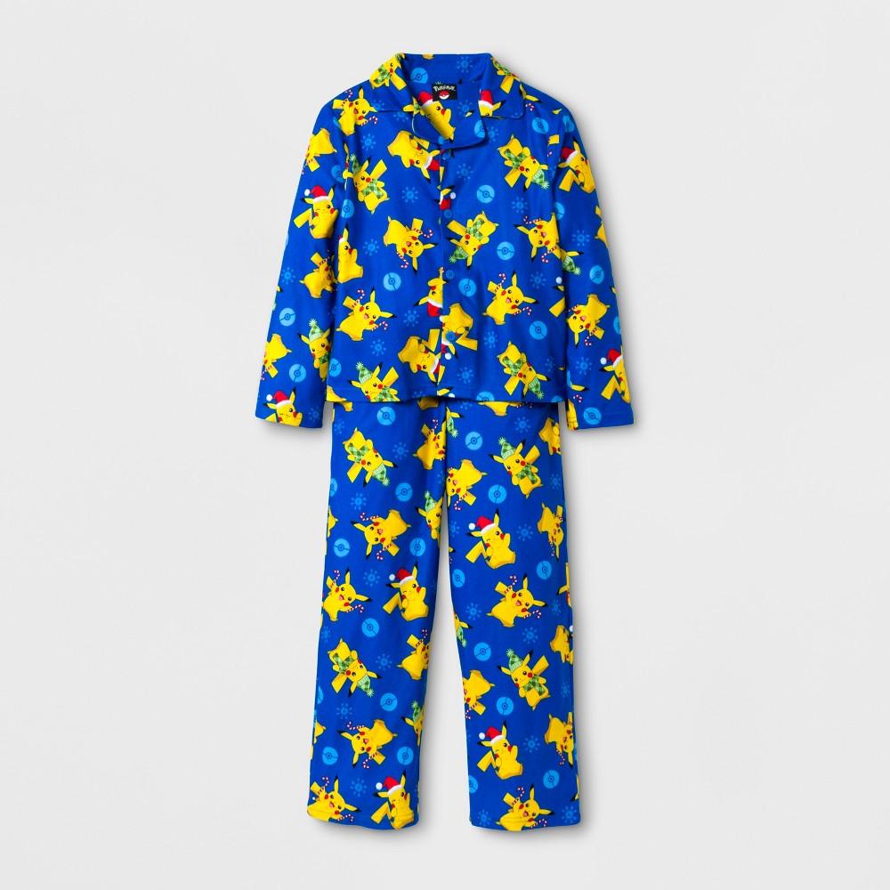 Boys Pokemon 2 Piece Pajama Set - Blue 8