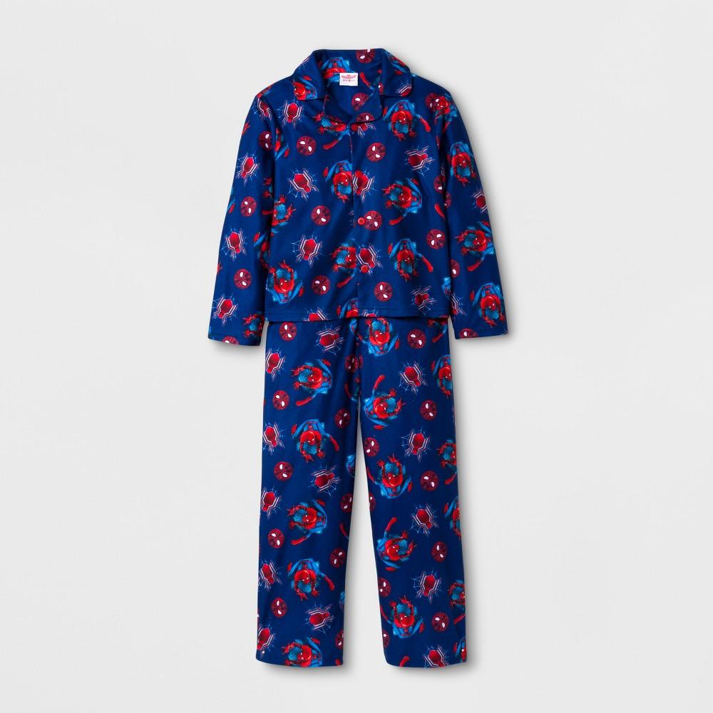 Boys Marvel Spider-Man: Homecoming 2 Piece Pajama Set - Navy 8, Blue