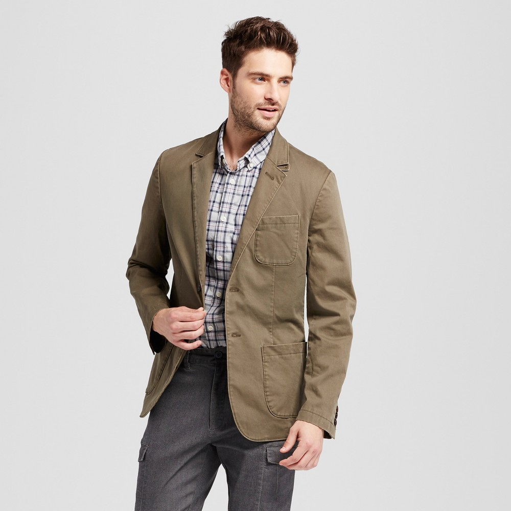 Mens Standard Fit Deconstructed Chino Blazer - Goodfellow & Co Olive (Green) M